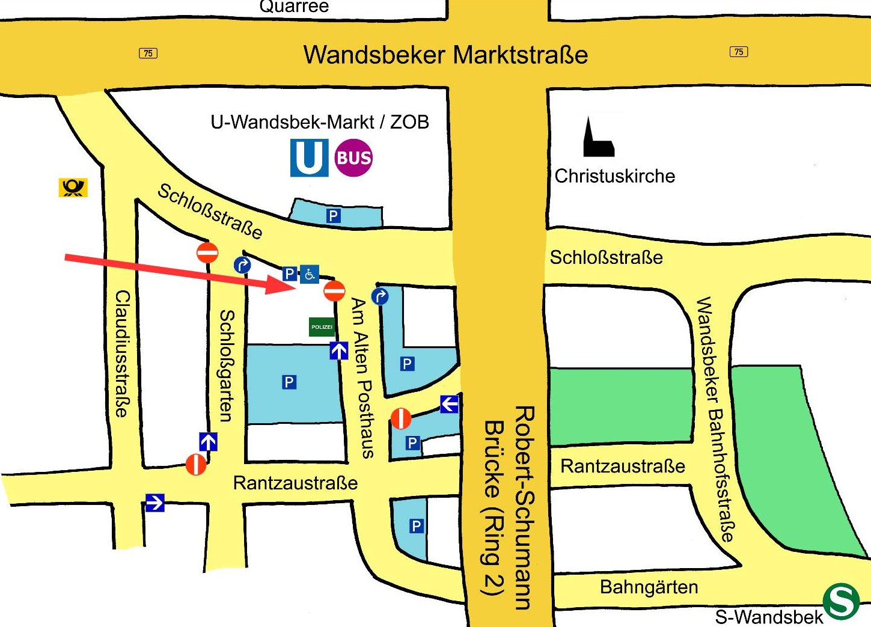 Lageplan_Praxis_Gerlinde_Kaliske_Wandsbek_Markt